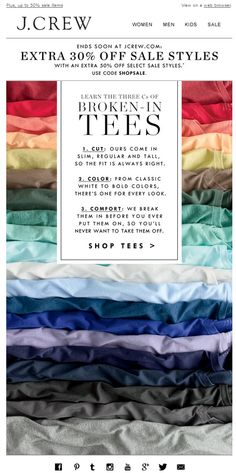 A good T-shirt is forever | J.Crew 05.05.2014