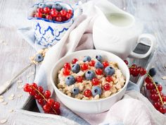 Porridge with summer berries by Life Morning Photography on @creativemarket