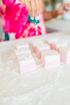 Homemade marshmallows **