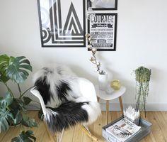 Perler på snor eames gyngestol livingroom . stue