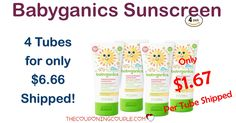 WOW! DON'T MISS THIS! Babyganics Baby Sunscreen is $6.66 shipped for a 4 pack! Only $1.67 per tube!   Click the link below to get all of the details ► http://www.thecouponingcouple.com/babyganics-baby-sunscreen-lotion/ #Coupons #Couponing #CouponCommunity  Visit us at http://www.thecouponingcouple.com for more great posts!