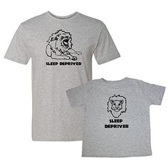 We Match! Sleep Deprived & Sleep Depriver (Lions) Matching Adult T-Shirt & Child T-Shirt Set (Youth X-Small T-Shirt, Adult T-Shirt XL, Sport Grey) We Match! http://www.amazon.com/dp/B01590OS3K/ref=cm_sw_r_pi_dp_Eflcwb0HTXX42