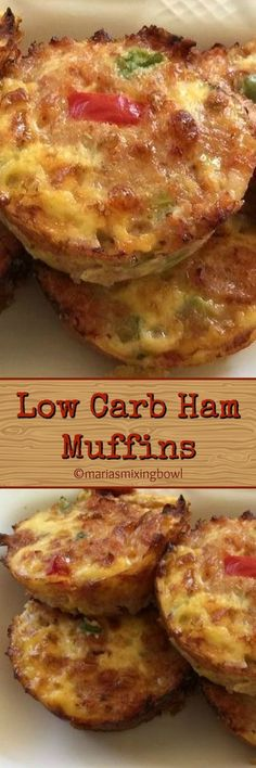 Low Carb Ham Muffins - Maria's Mixing Bowl