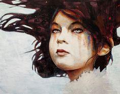 Zoe16 x 20 Graphite / Acrylic / Oil on Canvas Michael Shapcott 2010