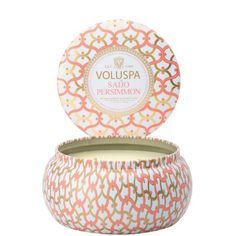 VOLUSPA'S SIGNATURE HOME COLLECTION.  A MODERN MIX OF VINTAGE SHAPES AND POP COLORS, VOLUSPA'S MAISON COLLECTION IS A COMPLETE OLFACTORY PALATE.THE MAISON METALLO CANDLE IS ADORNED WITH VINTA...