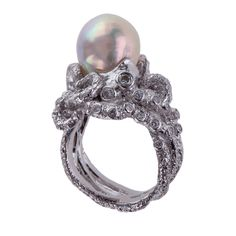 Baroque Octopus Ring - Shop rings from Italy's Best Artisans: fine jewelry handcrafted in Italy - Fine Jewelry from Italy's Best Artisans - Artemest