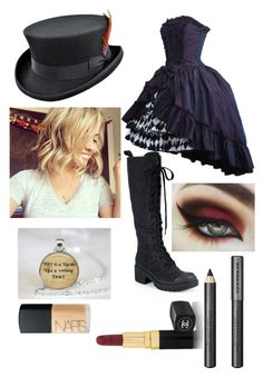 """Mad hatter dress up"" by libbymai ❤ liked on Polyvore featuring Marc by Marc Jacobs, Chanel, Burberry, NARS Cosmetics, women's clothing, women, female, woman, misses and juniors"