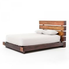 Buy Iggy Queen Bed at Zin Home. Our Eclectic Iggy Queen Platform Bed frame is handcrafted from exotic demolition hardwoods such as salvaged wood from Brazilian peroba wood and Chilean Guanacaste Queen Platform Bed Frame, Wood Platform Bed, Murphy Bed Ikea, Murphy Bed Plans, King Beds, Queen Beds, Modern Murphy Beds, Types Of Beds, Wood Beds