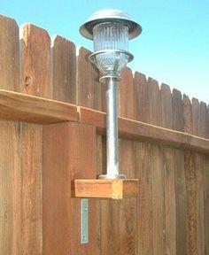 Solar lights along fencing