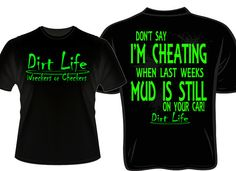 dirt life neon printed racing shirt by daddyrabbitgraphics on etsy 2100 - Racing T Shirt Design Ideas