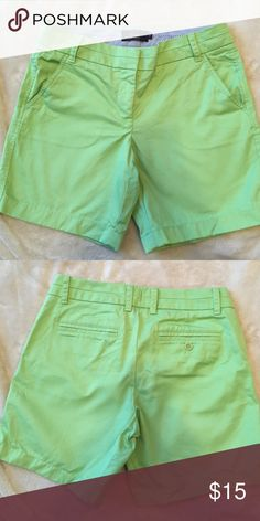 """J Crew 7"""" Chino Shorts Bright celery. Worn once. From retail store (not Factory/outlet) J. Crew Shorts"""
