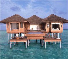 1 br  Maldives Beach Front Villa Vacation Rental: Maldives Luxurious Bungalow Villa