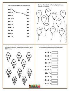 Mental Maths Worksheets, School Worksheets, 4 Times Table, Two Digit Multiplication, English Exercises, Addition Worksheets, Math For Kids, School Hacks, Teaching Math