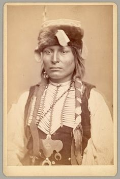 Tau-ankia-Tibone (aka Sitting In The Saddle) the son of Lone Wolf - Kiowa - circa 1867.