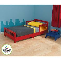 Kidkraft Slatted Toddler Bed - Red - Baby - Toddler Furniture - Toddler Beds