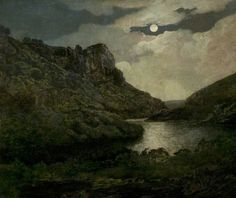 Joseph Wright of Derby.  BBC - Your Paintings - High Tor, Matlock, Derbyshire