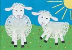 Lace for sheep! Why not! Adorable spring lamb craft for the kids to make!, Lace for sheep! Why not! Adorable spring lamb craft for the kids to make! Just add a doily! Easter Art, Easter Crafts, Spring Crafts For Kids, Art For Kids, Preschool Crafts, Fun Crafts, Craft Kids, Lamb Craft, Spring Lambs