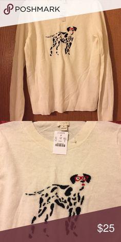Super cute JCrew dog sweater. NWT! 🐶🐶🐶 JCrew sweater. NWT!! Size medium. J. Crew Sweaters Crew & Scoop Necks