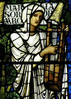 heaveninawildflower:  Stained glass window depicting Miriam (1886) in St.Giles Cathedral. Edinburgh by Edward Burne-Jones (28 August 1833 – ...