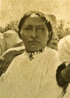 Annie White-Wratten (the daughter of E-Zhi-Ye, and the 1st wife of Interpreter George Medhurst Wratten) at Fort Sill in Oklahoma - Chiricahua Apache - before 1913