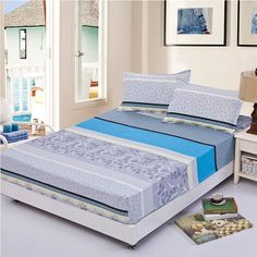 29 Variants Summer Elastic Fitted 3pcs Bedding Set  Worldwide Free Shipping
