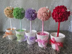Embroider Along With Me Series 7 Paper Flowers Diy, Felt Flowers, Flower Crafts, Diy And Crafts, Crafts For Kids, Paper Crafts, Pearl Centerpiece, Box Frame Art, Sofia The First Birthday Party