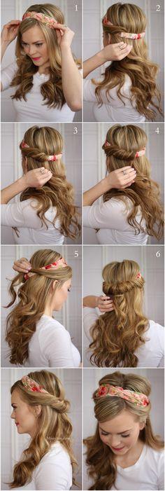 Supersnabb uppsättning med hårband
