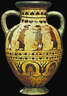 Etruscan painted vase C.550BC                                                                                                                                                                                 More