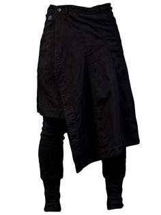 JULIUS - Skirted Slim Pant - 397PAM12 BLK-1 - H. Lorenzo | Appearance