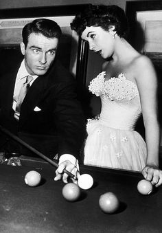 Montgomery Clift and Elizabeth Taylor in A Place In The Sun, 1951