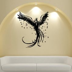 This vinyl decal from offers a beautiful, high quality vinyl design that transfers to most walls in with simple application. This vinyl design is made from matte indoor vinyl that works well on any sm