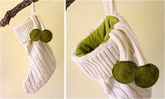 Make a stocking from an old sweater