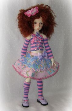 Butterfly Stripes B outfit for Dollstown 5-year and small msd/slim-mini  BJD