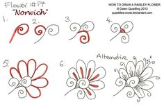 How to draw Paisley Flower 17 Norwich by Quaddles-Roost on DeviantArt