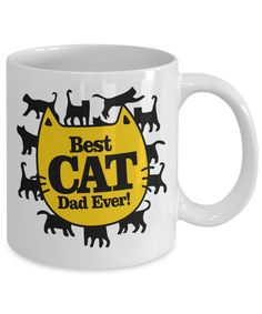 Best Cat Dad Ever Fun Coffee Mug! Makes A Perfect Gift For Him, Men Or Friend. This Coffee Mug Is An Awesome Anniversary, Christmas,Birthday Or Valentine's Day Gift. For More Funny Gift Ideas, Visit RixionGear. SHOP NOW!