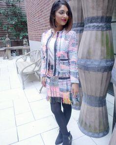 Deepica Mutyala wearing our Mini Fringe Skirt with the Fringed Jacket