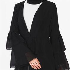 Divasty Elegant Wear Muslim Fashion, Hijab Fashion, Fashion Dresses, Hijab Dress Party, Hijab Outfit, Modest Outfits, Casual Outfits, Black Hijab, Maxi Cardigan