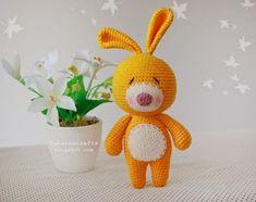 Free crochet rabbit amigurumi doll pattern Crochet Gratis, Crochet Amigurumi, Amigurumi Doll, Crochet Dolls, Free Crochet, Crochet Rabbit, Art Japonais, Crochet Patterns Amigurumi, Stuffed Toys Patterns