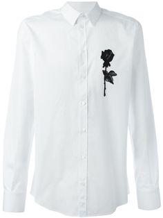 2cd49d275189f DOLCE  amp  GABBANA Rose Appliqué Shirt.  dolcegabbana  cloth  shirt Dolce E