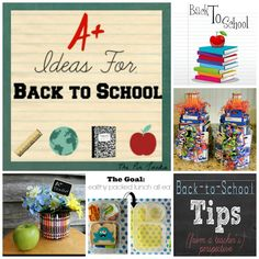 A+ Ideas for back to school - printables, crafts, teacher gifts, & ways to make packed lunches fun!