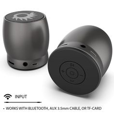 Punkcase ROCKER Portable Wireless Bluetooth Speaker for iPhone/Android [Metallic Grey] Wireless Speakers, Bluetooth, Electronics Gadgets, Logitech, Audiophile, Sd Card, Multifunctional, Wifi, High Definition