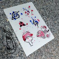 Naruto watercolour watercolor Aquarell Tattoo wanna do vorlagen konoha sasuke anbu Einheit