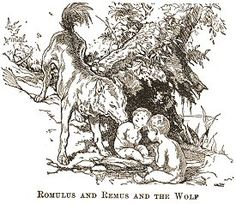 ROMULUS AND REMUS AND THE WOLF