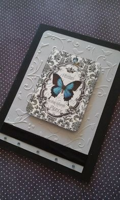 Butterfly  Black and Blue All Occasion Greeting by Paper4Memories