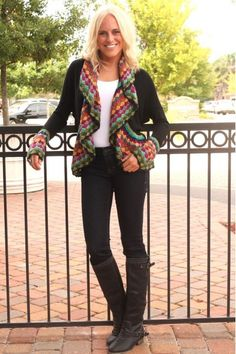 Color Me Cute Cardigan in Black