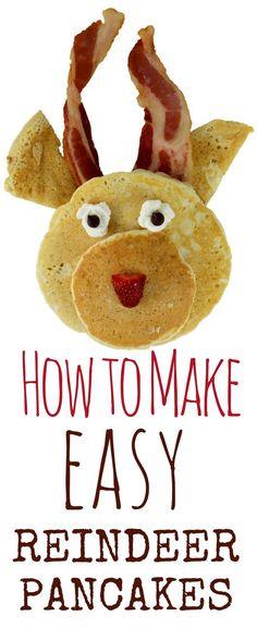 How to Make Easy Reindeer Pancakes: Christmas Breakfast Idea for Kids