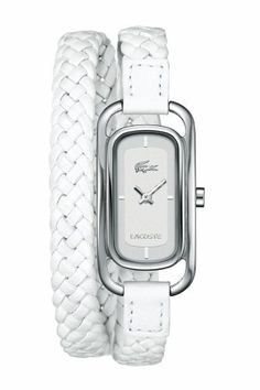 So want this!!  Lacoste Women's White Strap Sienna