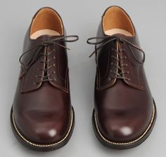 WWII era US Navy service shoe in burgundy by Phigvel