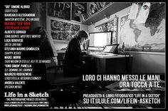 """Beatrice Bovo nel suo studio a Verona per il progetto """"Life in a Sketch"""", in crowdfunding ora su it.ulule.com/lifein-asketch"""