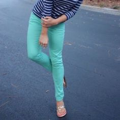 Teal Skinny Jeans In great condition Forever 21 Pants Skinny